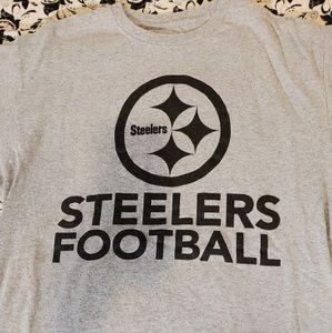 Pittsburgh Steelers Grey Football T-Shirt